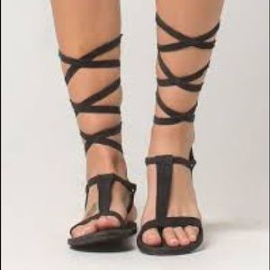 Free people wrap up sandals